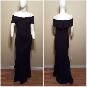 43db30e9e2aa Eliza J Dresses - Eliza J Knot Front Off the Shoulder Gown